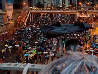 Jurnalis Indonesia kena tembak peluru karet di Hong Kong