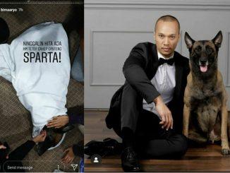 Bima Aryo dan anjingnya Sparta