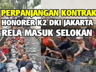 [Video] Pegawai Honorer K2 dan Non-K2 DKI Jakarta Harus Rela Masuk Selokan