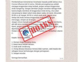 Hoaks Virus Corona Indonesia