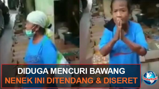 Hasil gambar untuk Viral Video Seorang Perempuan Tua Ditendang