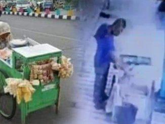 CCTV Pria Tega Curi Rp 45 Ribu dari Gerobak Gorengan Nenek Renta yang Sholat di Masjid Surabaya