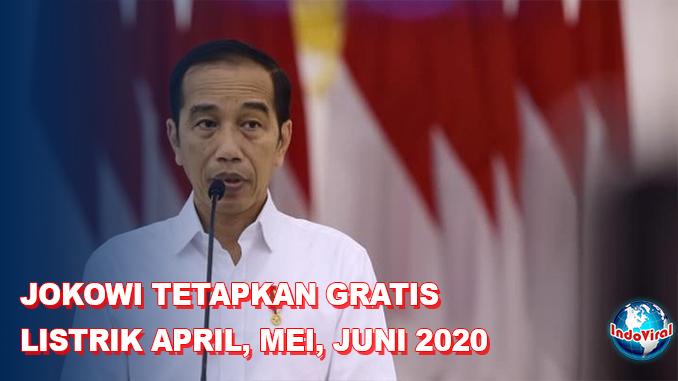Jokowi Tetapkan Gratis Listrik 3 Bulan