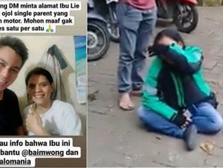 Wanita Driver Ojol yang Viral Dapat Dukungan Hingga Dibantu Baim Wong
