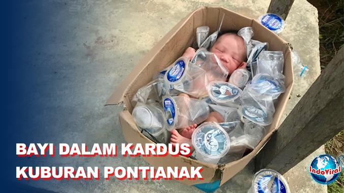 Warga Pontianak Gempar Temukan Bayi dalam Kardus Air Mineral