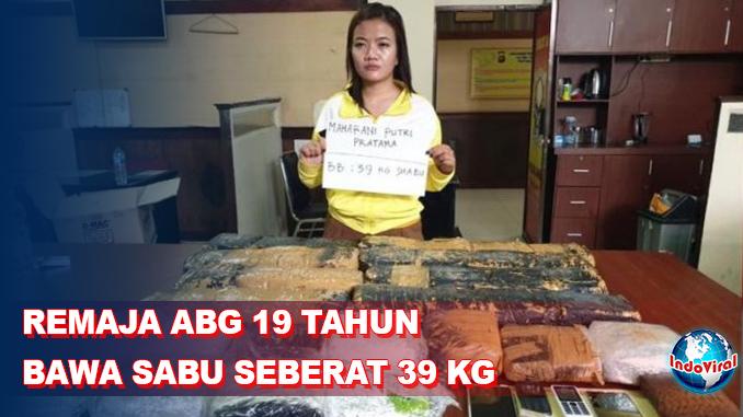 Remaja ABG 19 Tahun Diamankan Polisi, Bawa Sabu 39 Kg