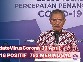 Update Virus Corona 30 April, Jumlah Pasien Terkini COVID-19 di Indonesia