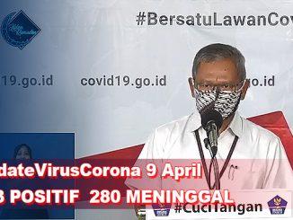 Update Virus Corona 9 April, Jumlah Pasien Terkini COVID-19 di Indonesia