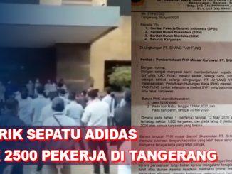 Pabrik Sepatu Adidas di Tangerang PHK 2500 Pekerja