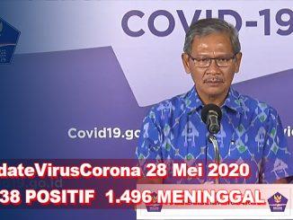 Update Virus Corona 28 Mei, Jumlah Pasien Terkini COVID-19 di Indonesia