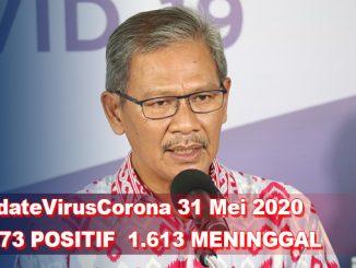 Update Virus Corona 31 Mei, Jumlah Pasien Terkini COVID-19 di Indonesia