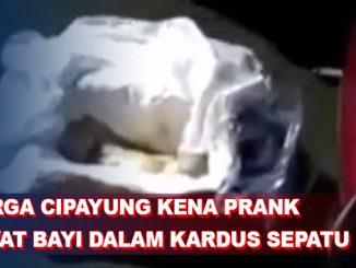 Warga Cipayung Kena Prank Mayat Bayi dalam Kardus Sepatu