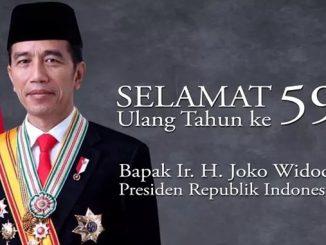 #HBD59Jokowi Selamat Ulang Tahun Ke-59 Presiden RI Joko Widodo