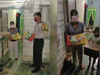Meskipun Hukum Tetap Jalan, Polisi Beri Bantuan Sembako pada Ibu Pencuri Sawit