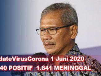 Update Virus Corona 1 Juni, Jumlah Pasien Terkini COVID-19 di Indonesia