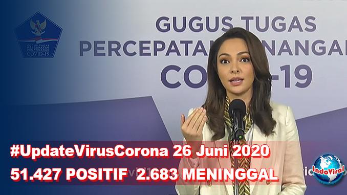 Update Virus Corona 26 Juni dan Jumlah Pasien Terkini COVID-19 di Indonesia